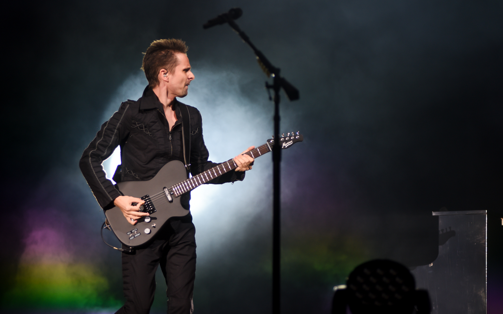 Banda britânica Muse em apresentação em São Paulo neste sábado (24), no Allianz Parque