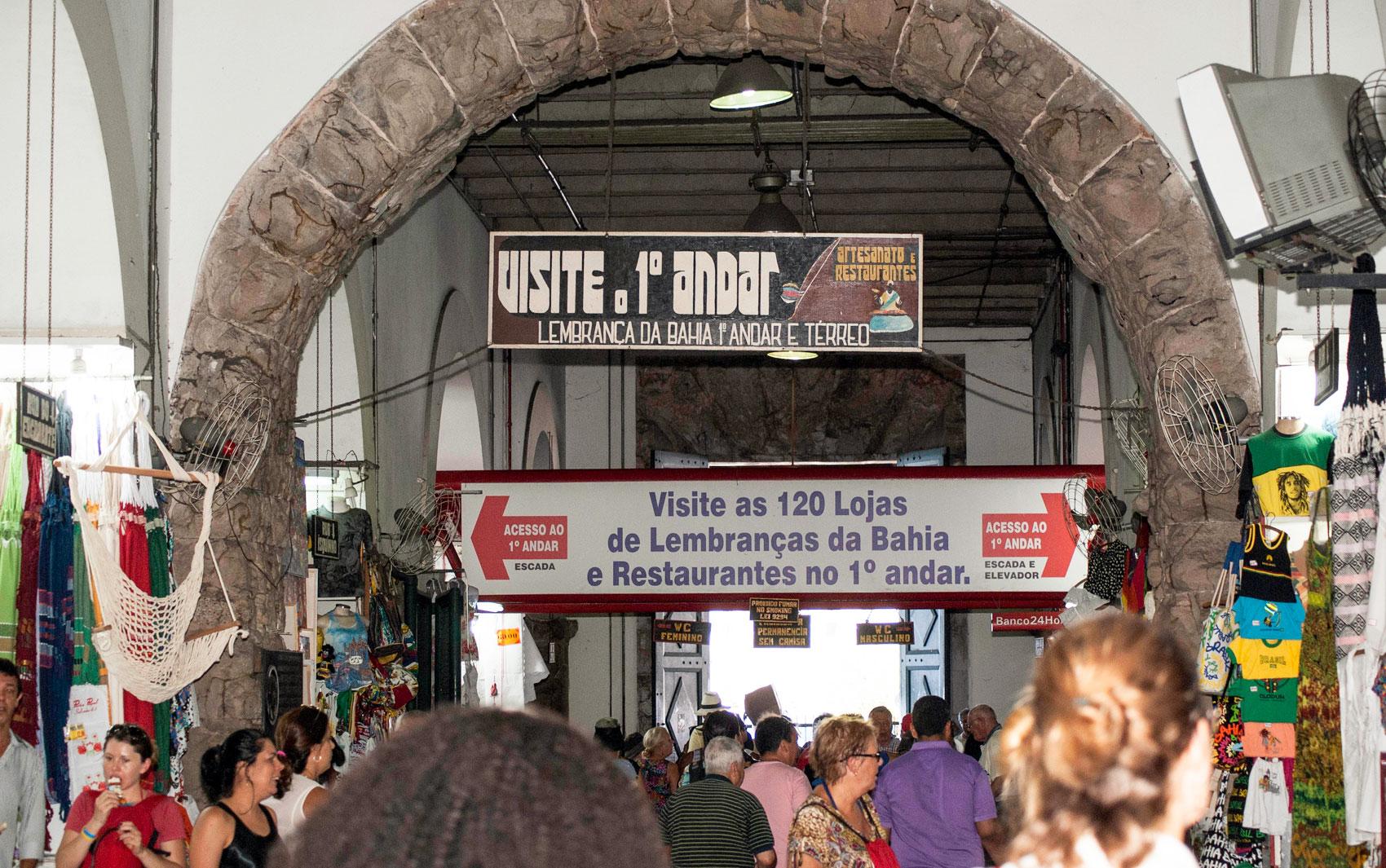 Mercado Modelo, em Salvador, fica na região da Cidade Baixa