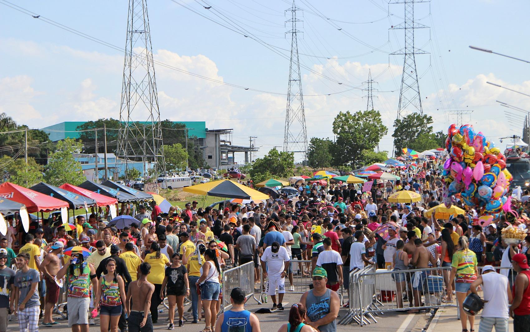 Público se reuniu na Avenida das Torres, na Zona Norte de Manaus