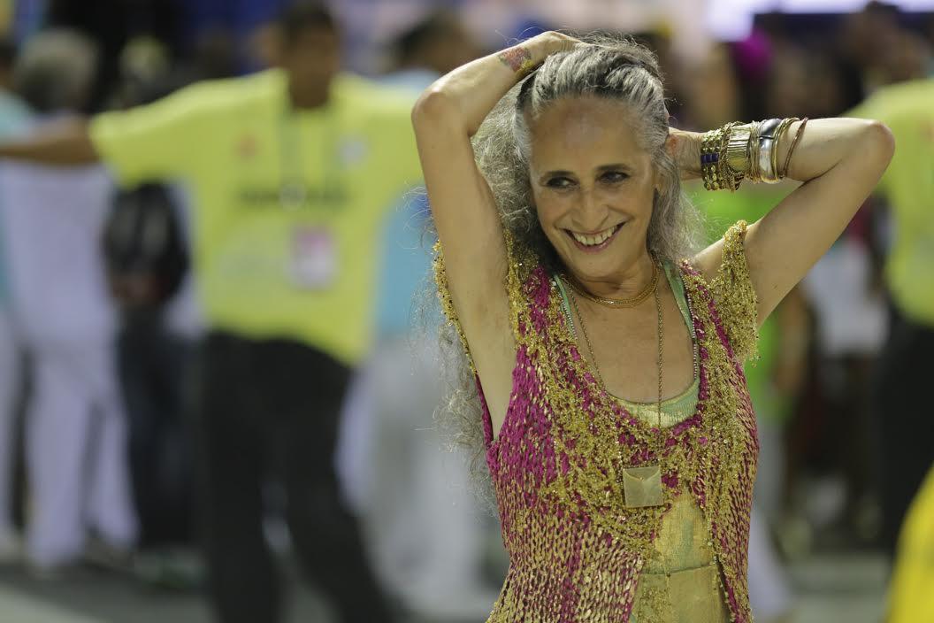 Maria Bethânia foi a grande homenageada pela Mangueira, escola campeã deste ano