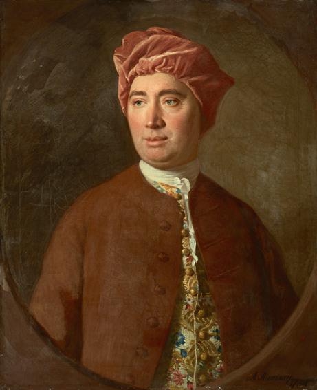 Pintura do filósofo escocês David Hume feita por Allan Ramsay