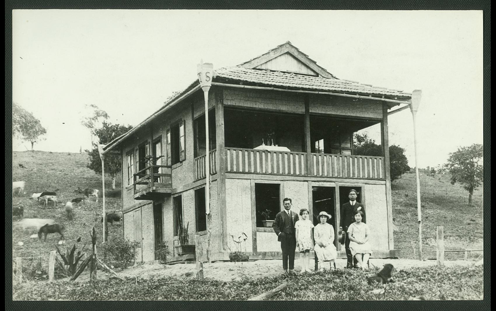 Casa de imigrante japonês no interior do estado de São Paulo no começo do século passado