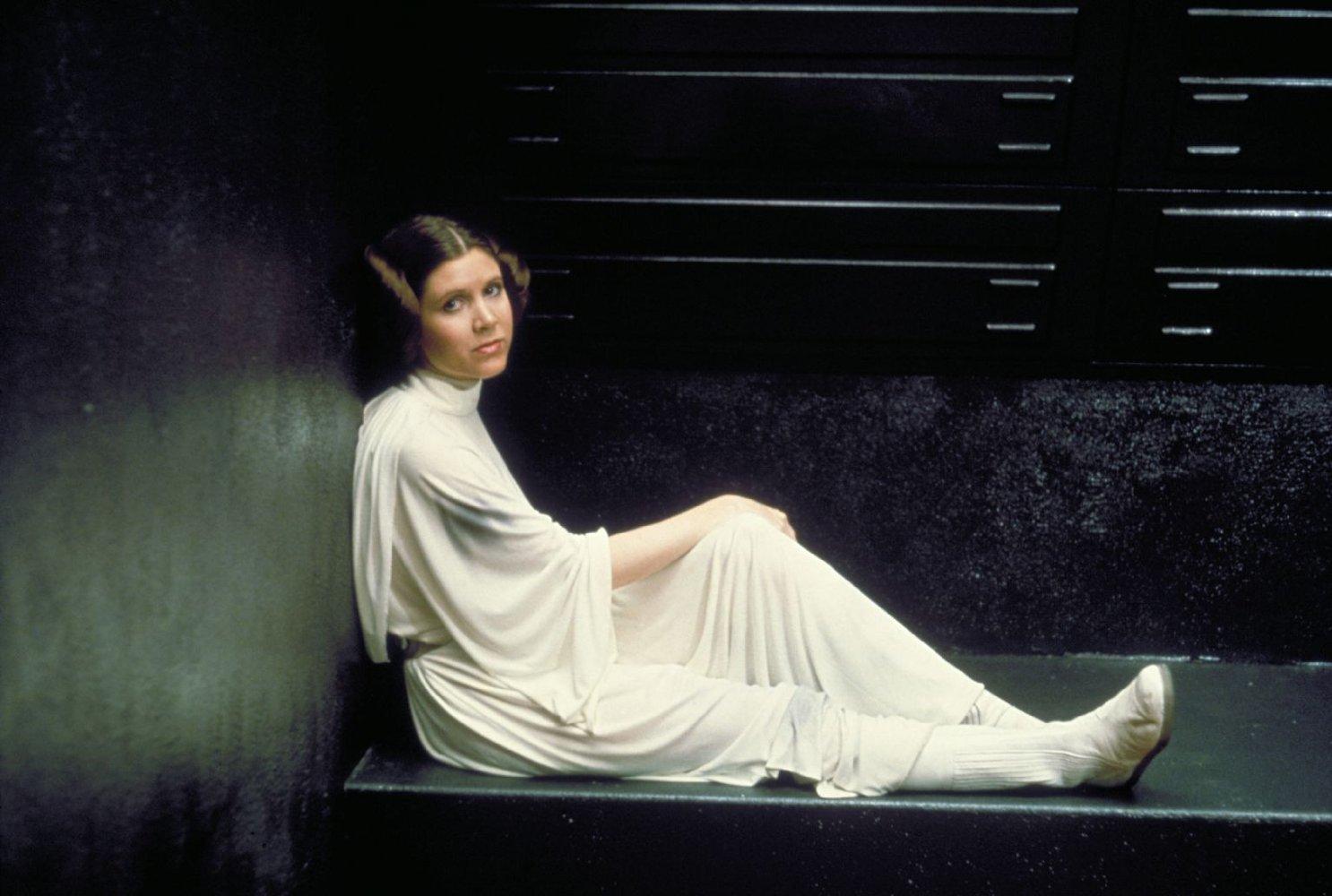 oniCarrie Fisher em 'Star Wars - Uma Nova Esperança' (1977).