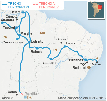 Comea agora nossa maratona at Braslia  G1 Brasil  Caminhos do