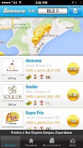 Aplicativo Belezuca exibe as lojas conveniadas e como oferecem a moeda virtual Belezuca