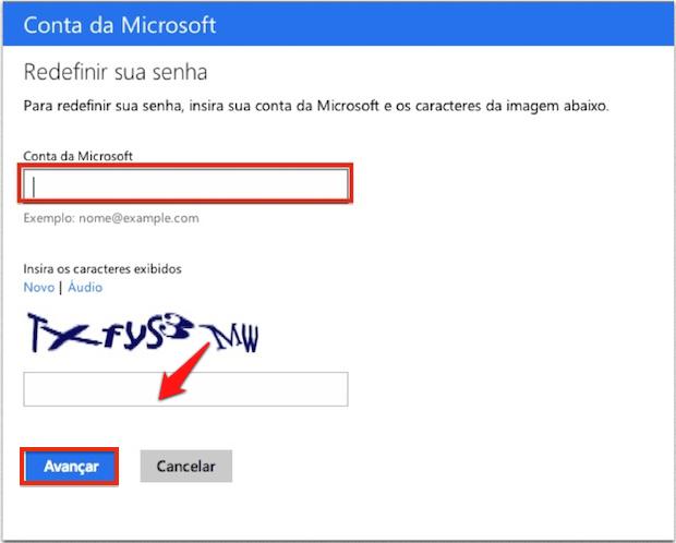 Redefinir senha no Windows 8.1