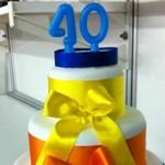 Bolo para a comemoração dos 40 anos do Jornal do Almoço, da RBS TV (Foto: Luiza Carneiro/RBS TV)