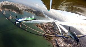 Aviões da FAB (Foto: TV Gazeta/Reprodução)