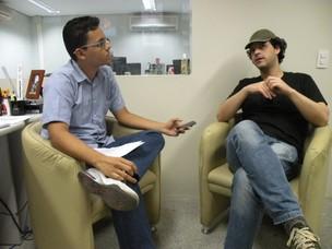 Elias Bruno entrevista Bruno Garcia (Foto: Alyne Cardoso)