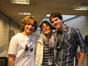 Pedro Tergolina, Fernando Campos e Ingrid Zavarezzi de Malhação (Foto: Divulgação, RBS TV)