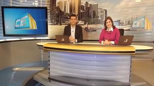 Luís Estevez e Danielly Portela, apresentadores do CETV 1ª Edição (Foto: Alyne Cardoso)