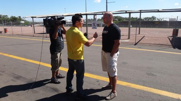 RBS Esporte foi conferir um curso de pilotagem (Foto: Divulgação, RBS TV)