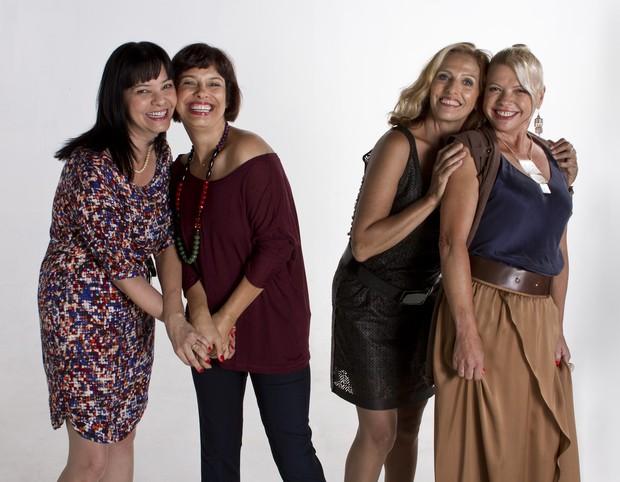 As Mulheres em Transe: Luciene Adami, Márcia do Canto, Marley Dancwardt e  Eliane Steinmetz  (Foto: Tiago Coelho e Marco AF)