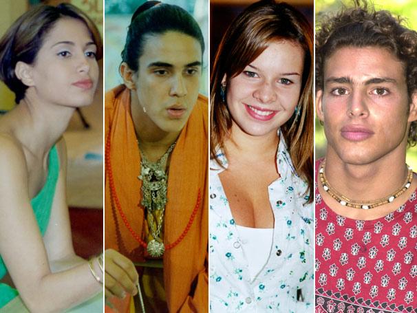 Camila Pitanga, André Marques, Fernanda Souza e Cauã Reymond quando faziam Malhação