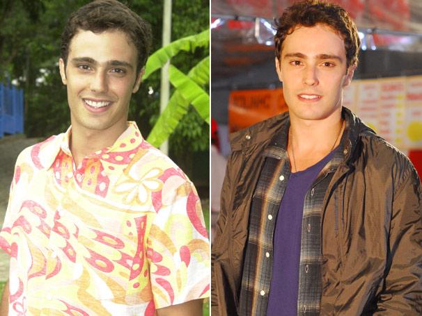 Thiago Rodrigues interpretou Bernardo em 2005 e em 2010 é o protagonista de Tempos Modernos, nova novela das sete