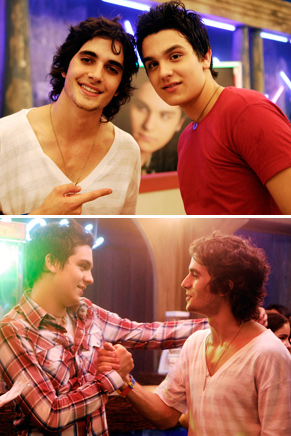 Mais dois momentos do encontro de Luan Santana e Fiuk