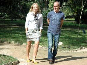 Angélica e Ney Matogrosso batem papo no Jardim Botânico, no Rio