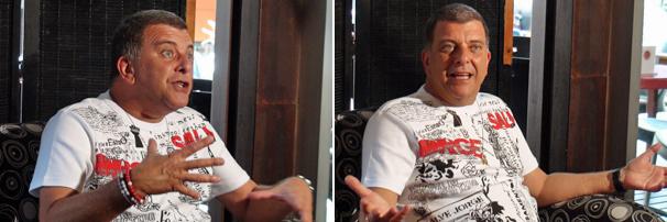 O diretor Jorge Fernando recebe imprensa para falar de Ti-Ti-Ti, a próxima nova das sete da Rede Globo