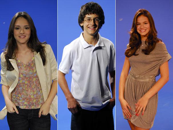 Isabelle Drumond, David Lucas e Bruna Marquezine