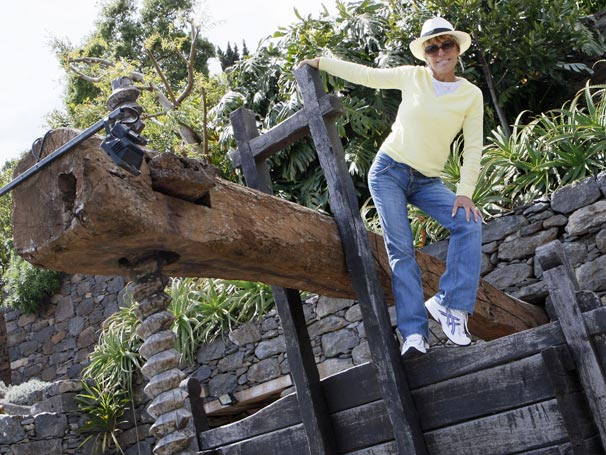 Ana Maria Braga se diverte na Ilha da Madeira