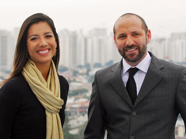 A jornalista Marina Araújo e o advogado Márcio Rachkorsky