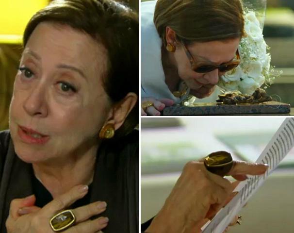 Anel e óculos de sol de Bete Gouveia estão entre os artigos  mais desejados pelo telespectadores da Rede Globo