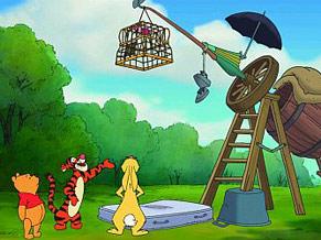 Pooh e seus amigos tentam achar uma forma de capturar o efalante