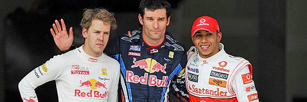 Webber voa e marca a sétima pole da RBR
