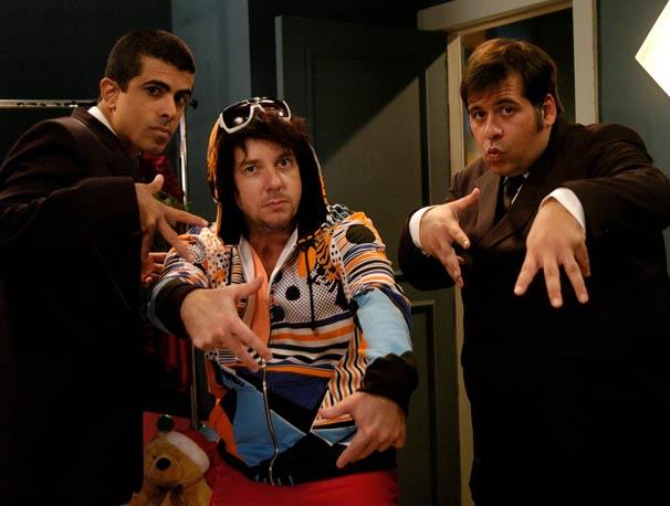 Fuik (Augusto Madeira) , Pedrão (Marcius Melhem) e Jorginho (Leandro Hassum)