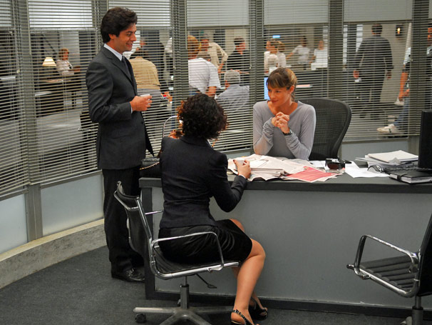 Gabriela (Luana Piovani), Célio (Leonardo Machado) e Ana  Beatriz (Ana Paula Arósio)