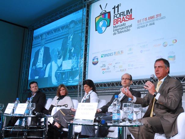 Ricardo Scalamandré, diretor da Central Globo de Negócios Internacionais participa de painel no 11º Fórum Brasil