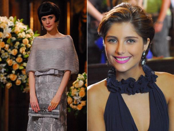 Melina (Mayana Moura) e Lorena (Tammy Di Calafiori) com seus vestidos de sucesso