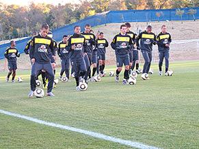 Seleção Brasileira treina antes de enfrentar a Costa do Marfim