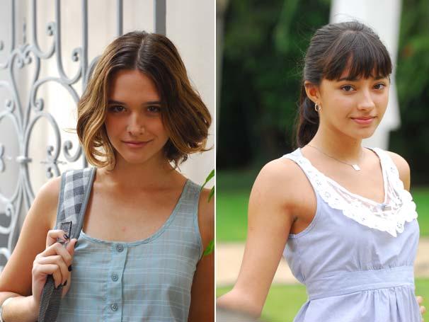 Gabriela (Carolina Oliveira) e Valquíria (Juliana Paiva)