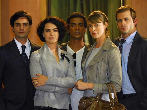 Ademir (Samuel de Assis), Célio (Leonardo Machado), Edgar (Henri Castelli), Gabriela (Luana Piovani) e Ana Beatriz (Ana Paula Arósio)