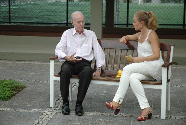 Angélica conversa com Zagallo