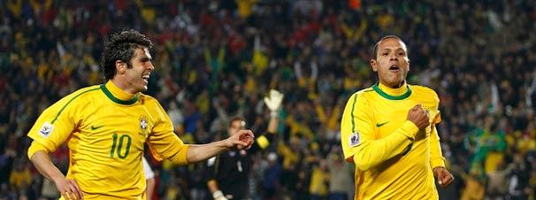 Kaká e Luis Fabiano
