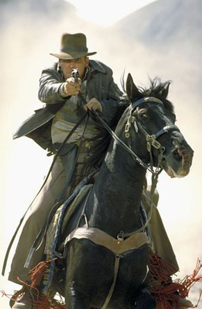 O famoso arqueólogo Indiana Jones viaja para a Itália em busca do Santo Graal