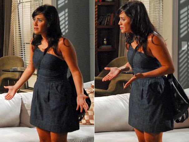 Em Tempos Modernos, o vestido jeans de Nelinha (Fernanda Vasconcellos) foi um dos preferidos do mês de junho