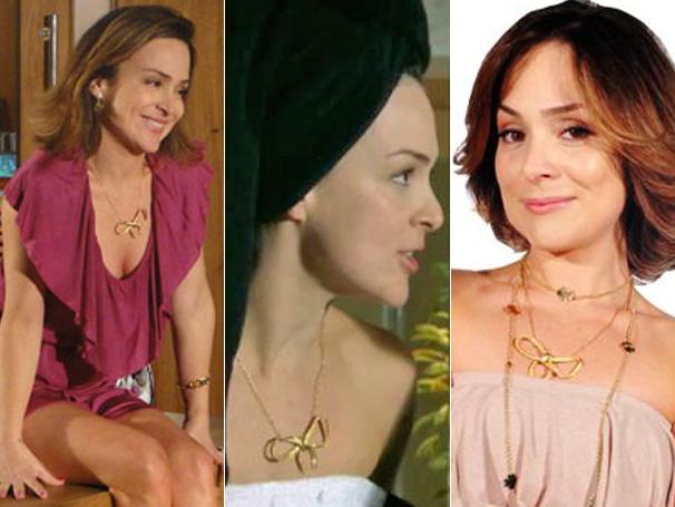 O chamativo colar de Jéssica (Gabriela Duarte) é o bjeto de  desejo do público