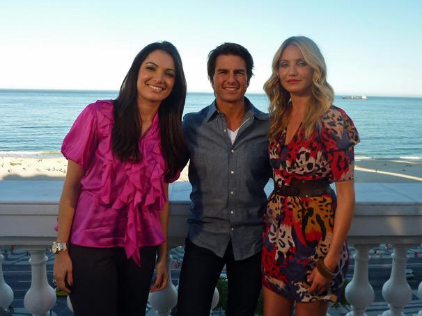 Patrícia Poeta entrevistou os atores Tom Cruise e Cameron Diaz