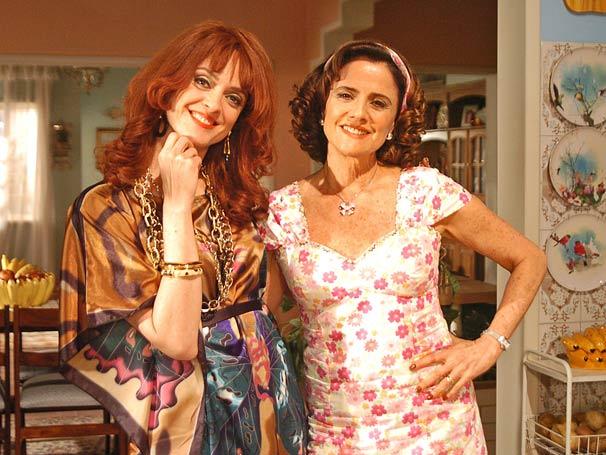 Glorinha (Bianca Byington) e Nenê (Marieta Severo)