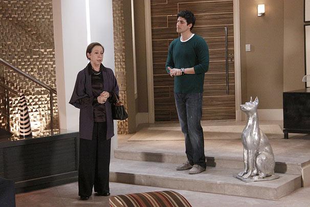 Bete (Fernanda Montenegro) e Fred (Reynaldo Gianecchini)