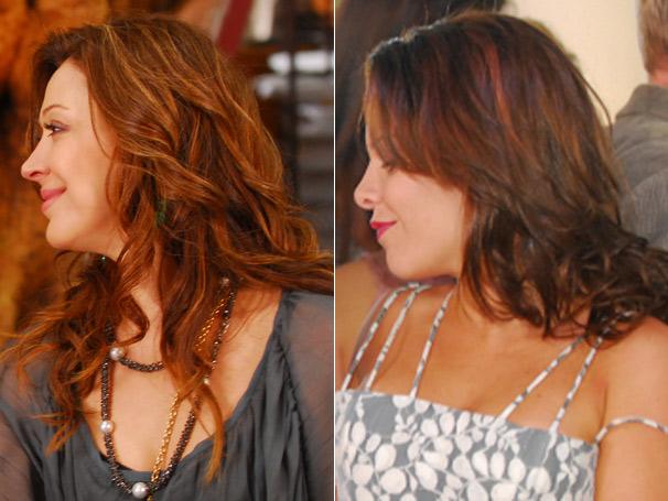 Os cabelos de Jaqueline (Claudia Raia) e Thaísa (Fernanda Souza) foram campeões de pedidos na estreia