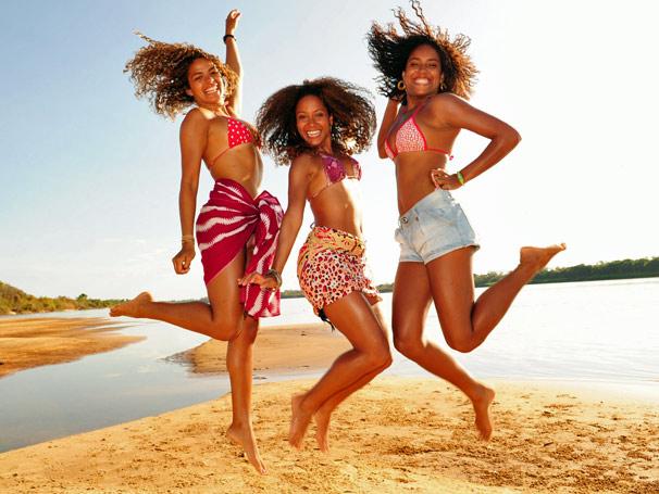 Gravações foram  feitas belas praias de areias brancas que se formam no rio Araguaia nos meses de julho a setembro