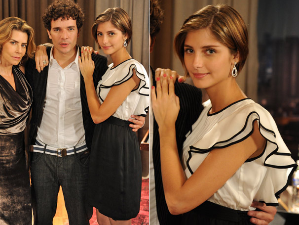 O vestido preto e branco de Lorena (Tammy Di Calafiori) deu o que falar na CAT