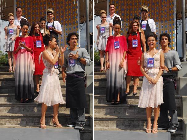 O vestido de Marcela (Isis Valverde) chamou atenção dos telespectadores