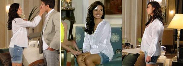 Marcela (Isis Valverde) conquista telespectadores com visuais despojados