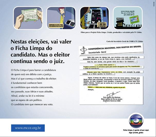 Anúncio publicado em jornais reproduz trechos da carta de d. Dimas, da CNBB