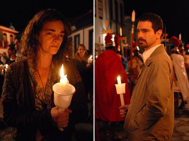 Edelweiss (Ines Peixoto) e   Luiz Camilo (Caco Ciocler)